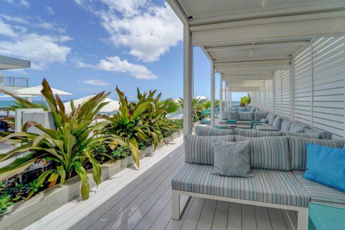 Poolside cabanas at Condado Ocean Club