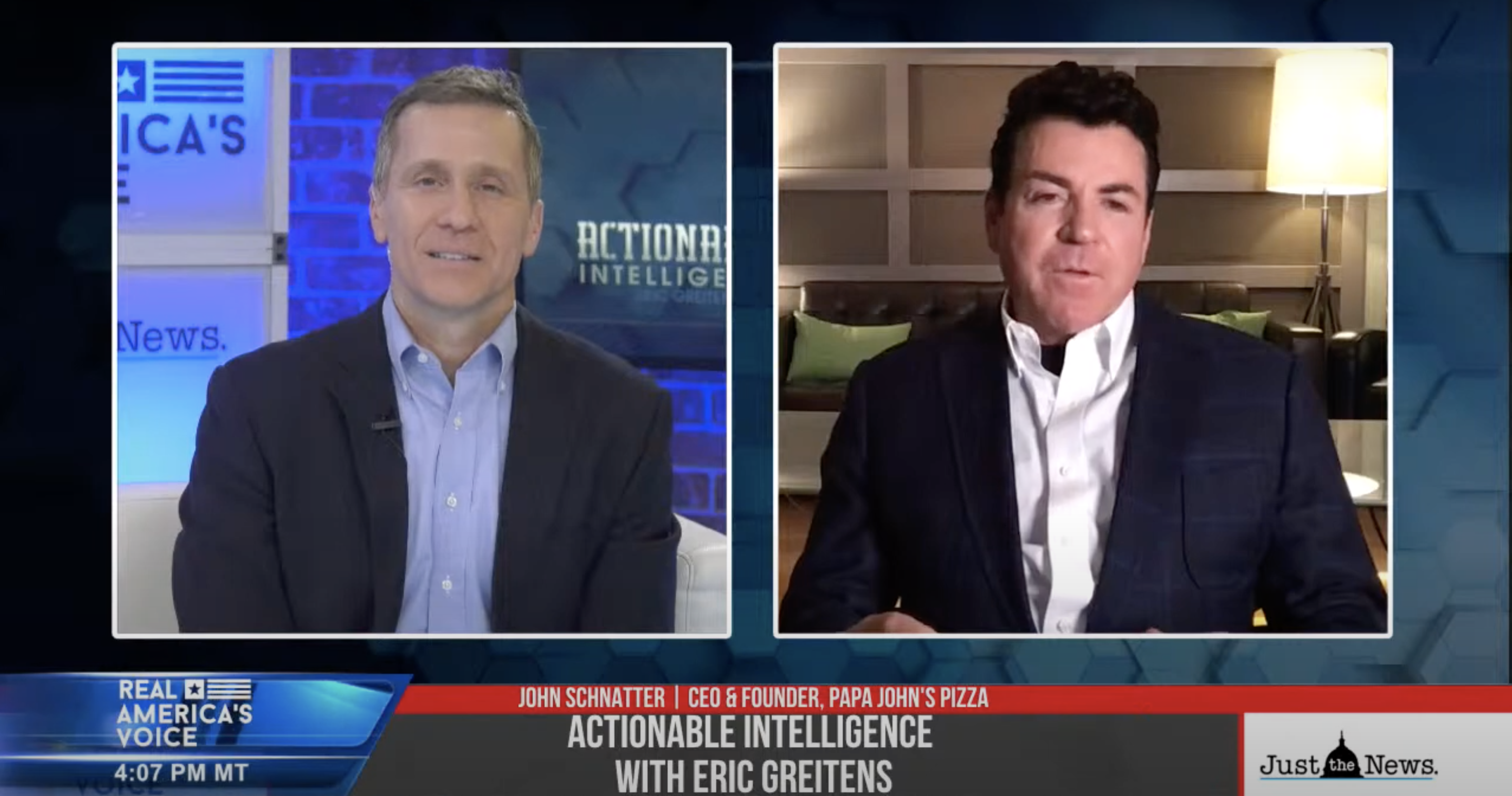 "GUEST: John Schnatter, CEO & Founder of Papa John's Pizza and Dave Grossman, Author of ""On Combat"""