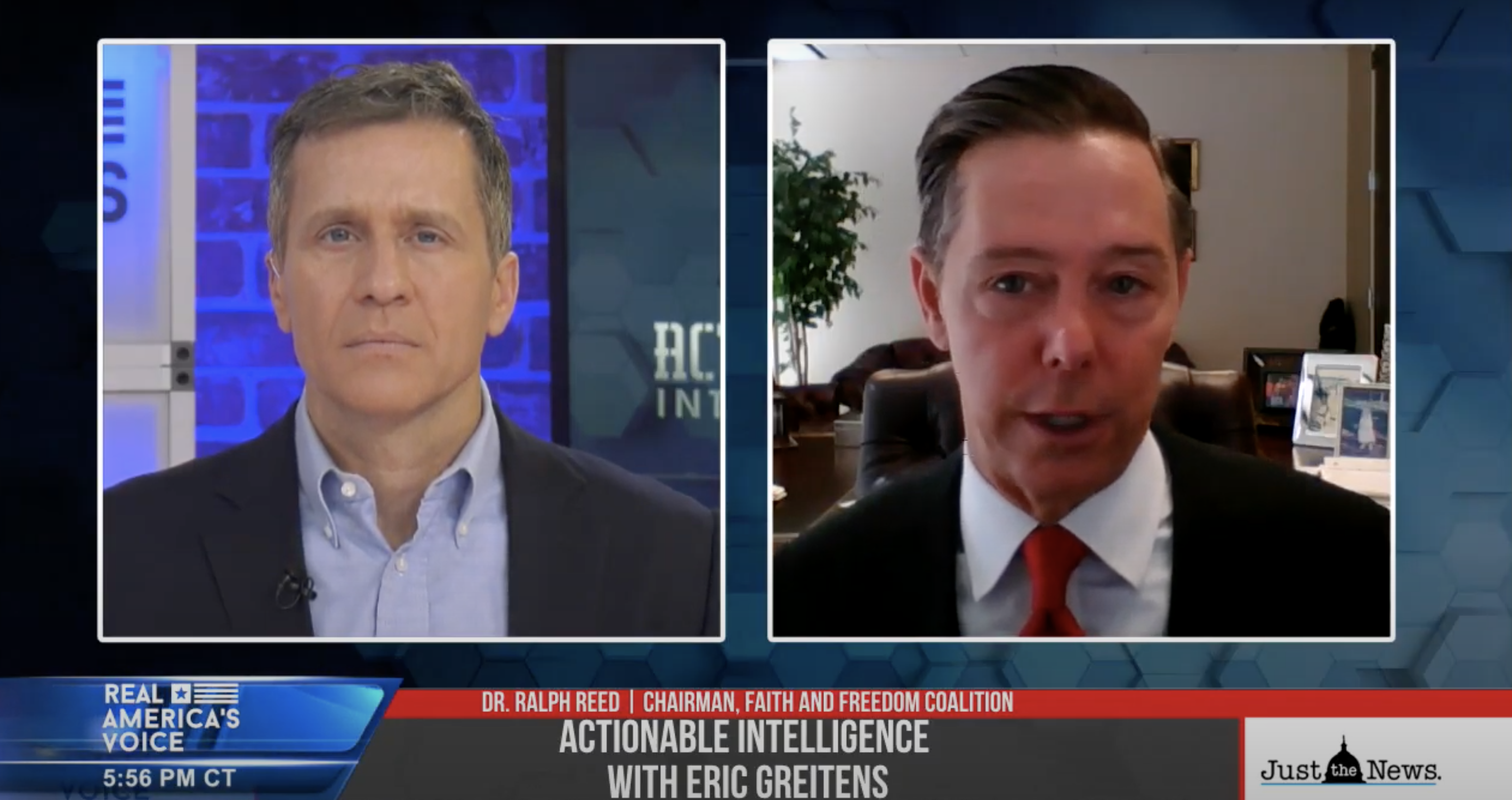 GUEST: Steve Cortes, Trump 2020 Strategic Advisor, Brandon Webb, Sofrep, and Dr. Ralph Reed, Chairman of Faith and Freedom Coalition