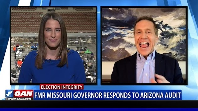 OANN: Former MO Governor & Navy SEAL Eric Greitens tours the Arizona Audit