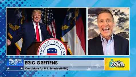 MUST SEE Interview with Fmr GOP Gov. Eric Greitens following President Trump on The Water Cooler!