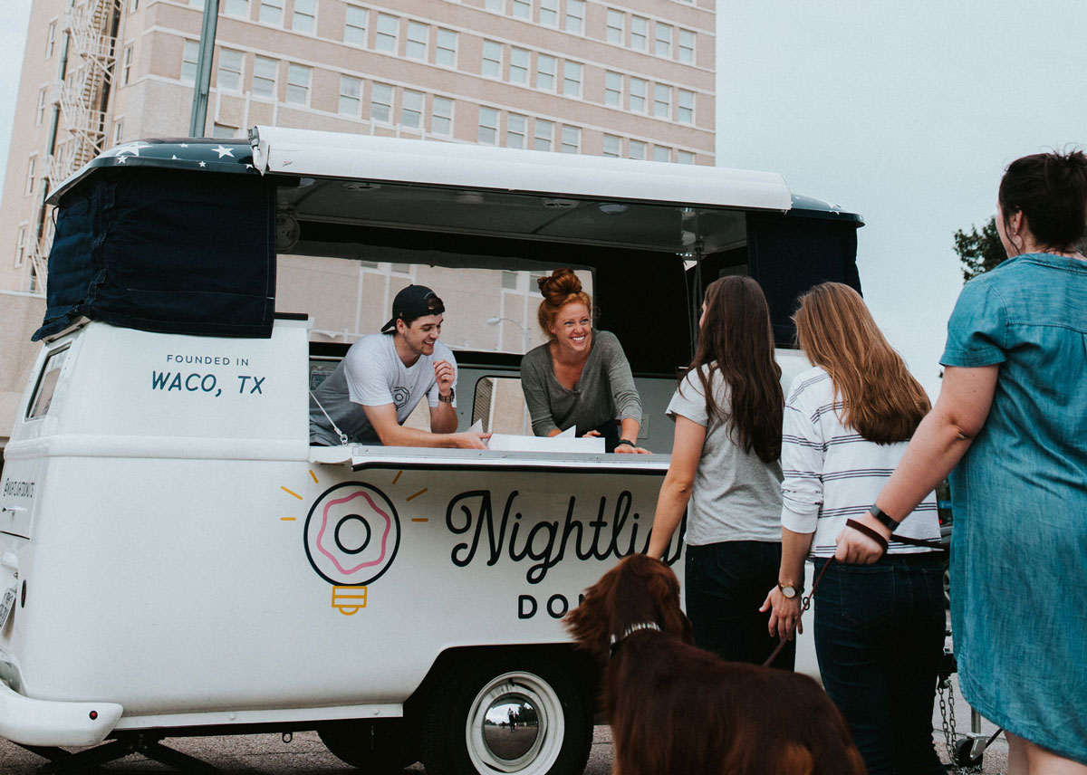 Donut Truck at an Event