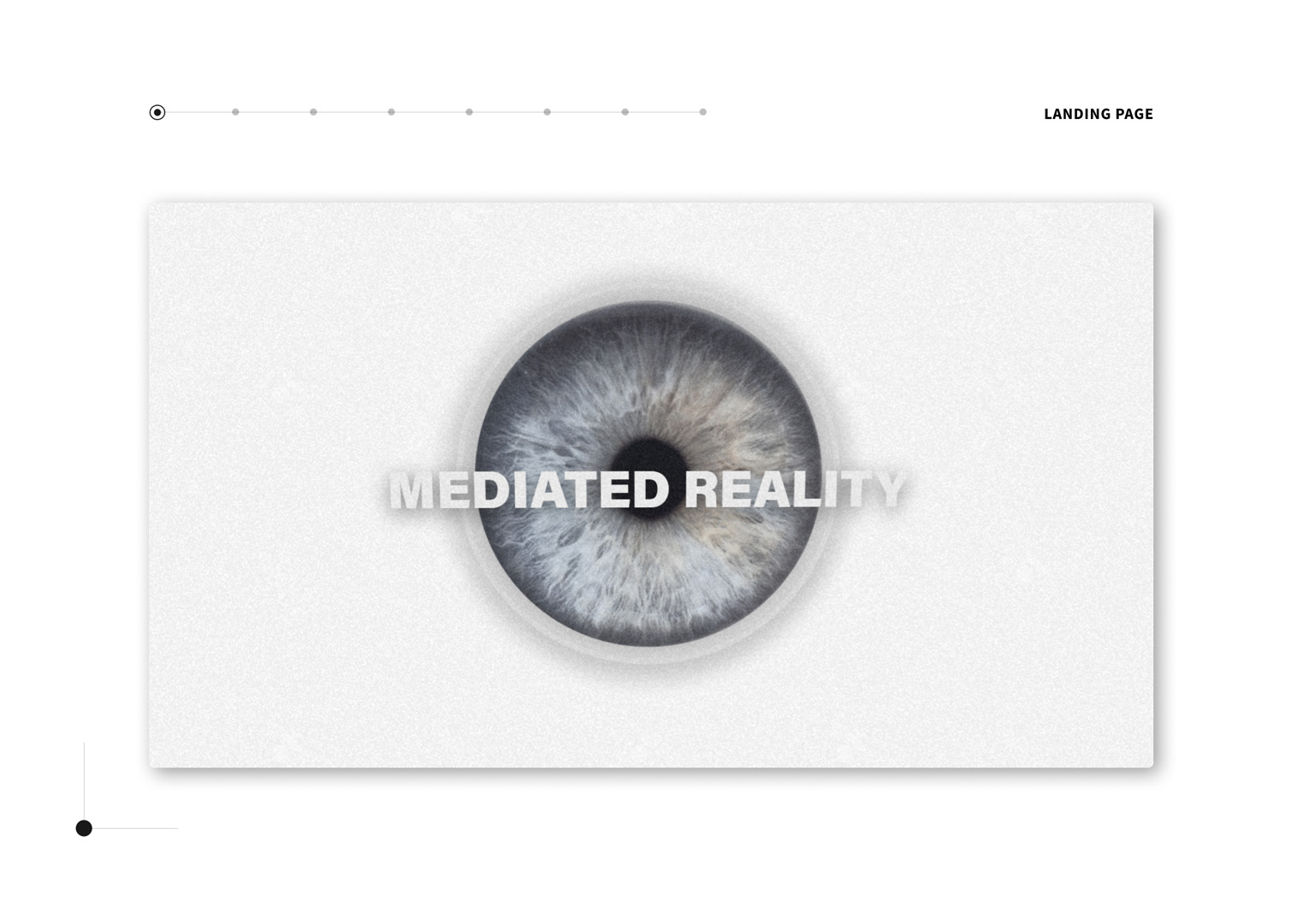 User interface designs for Mediated Reality website