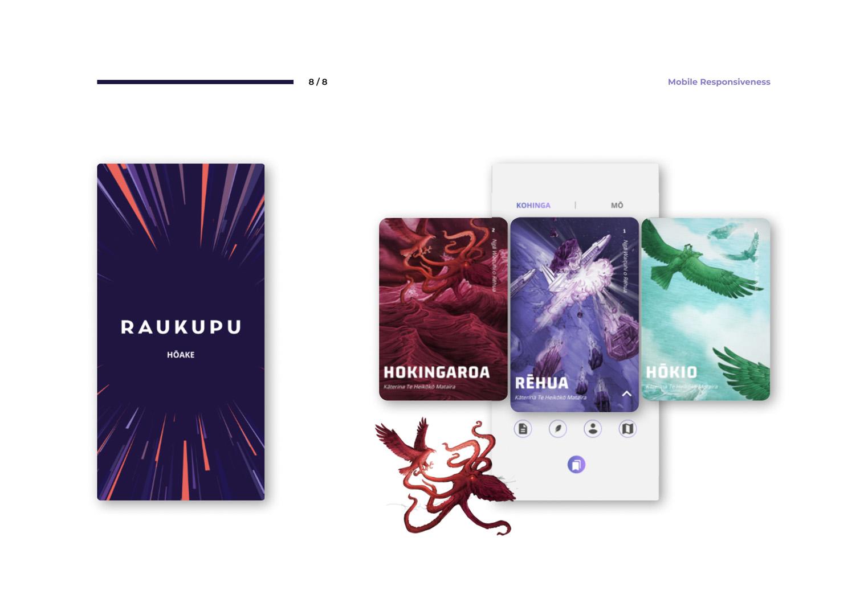 User interface designs for Raukupu - Te Reo E-Learning website