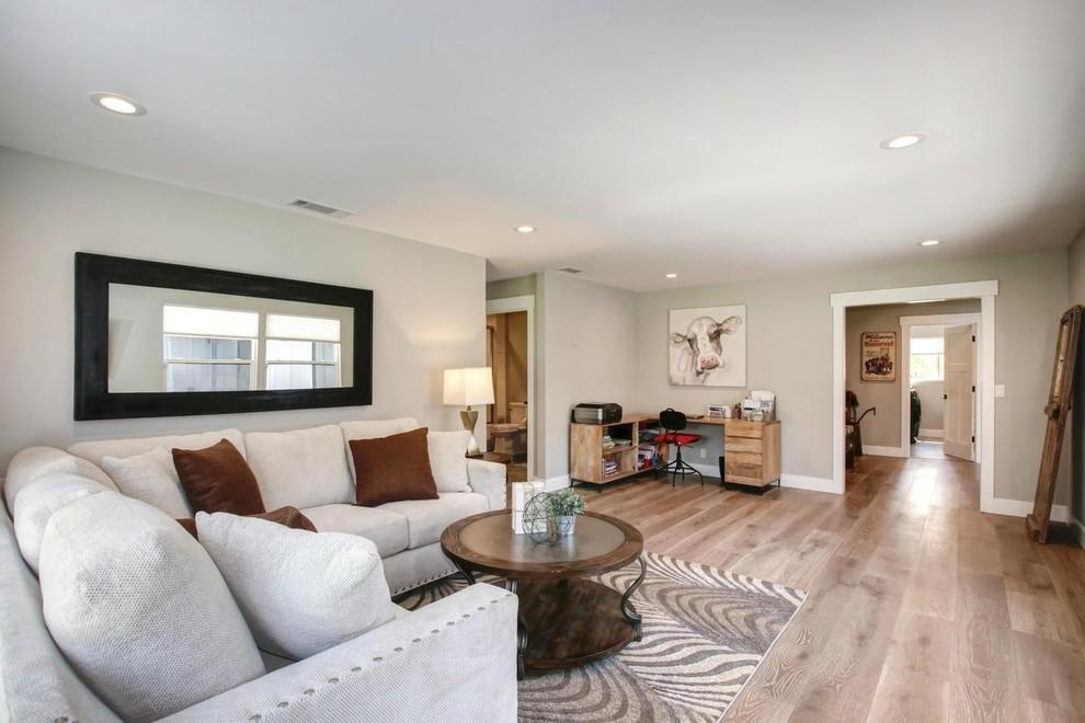 Farmhouse Living Room Design Sacramento CA