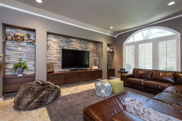 Transitional Living Room Granite Bay CA