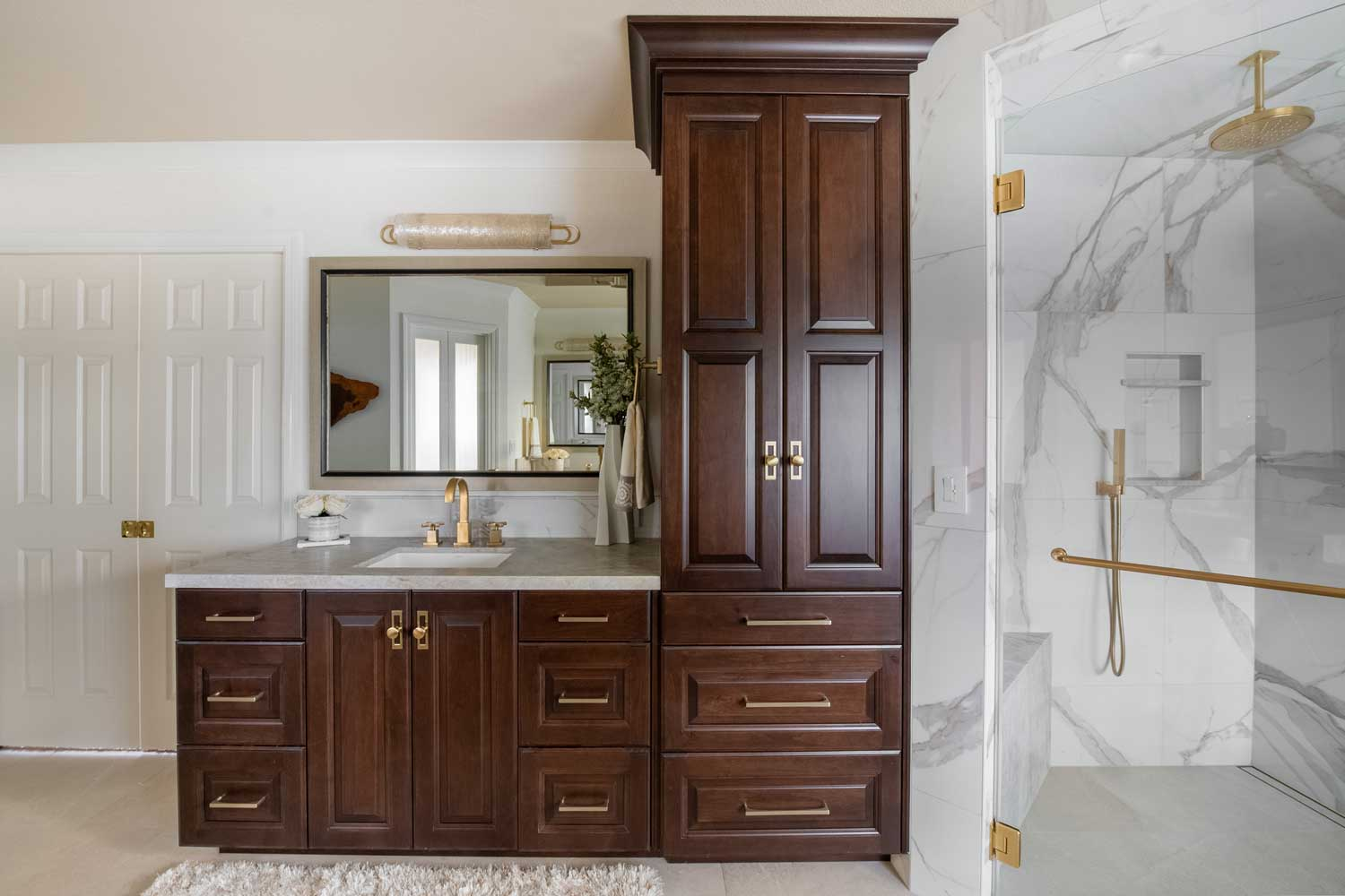 Traditional Modern Master Bathroom Vanity
