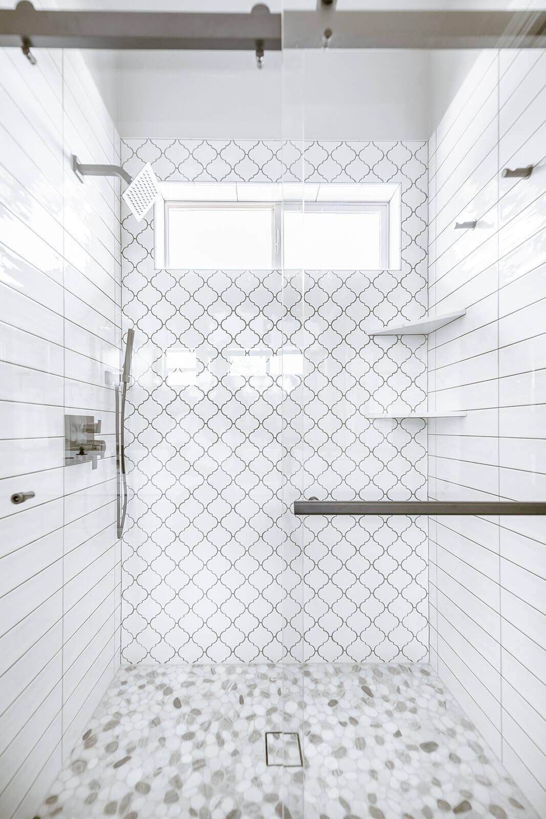Custom barndoor shower