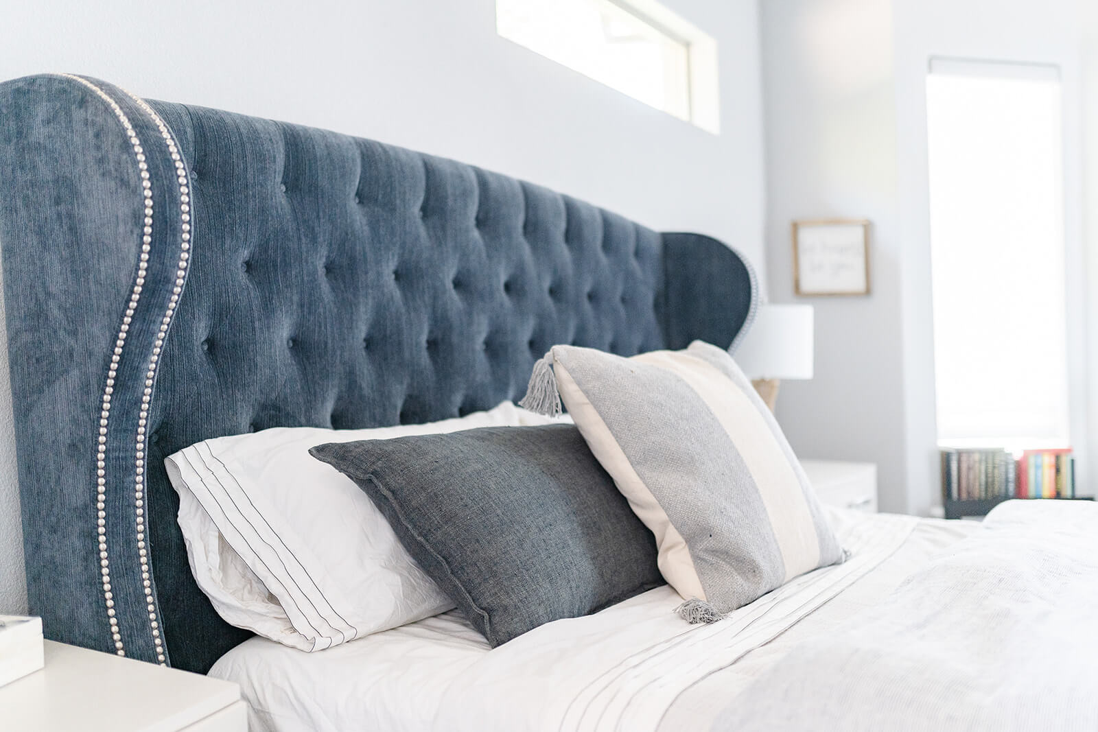 Transitional Bedding, Blue and white