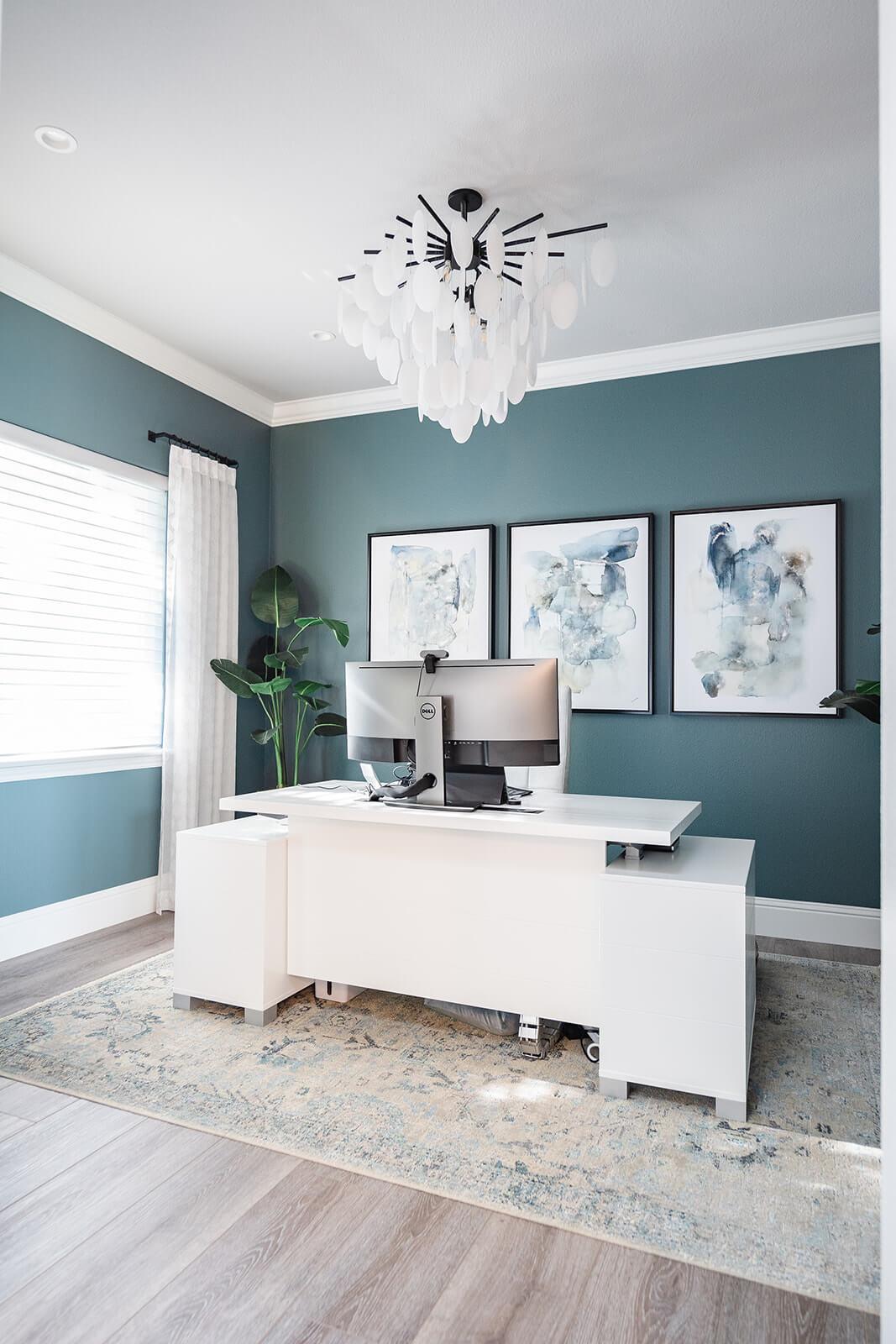 Transitional Custom Home Office Design