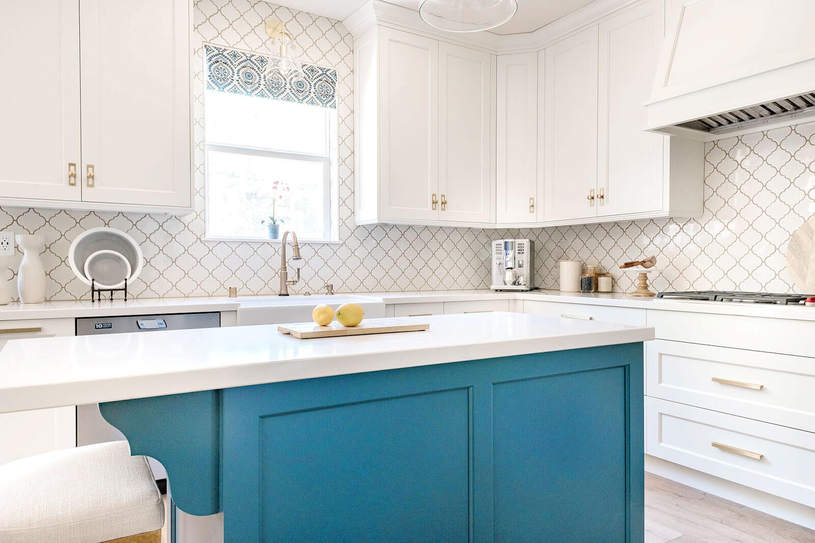 Transitional Kitchen Design, Blue island