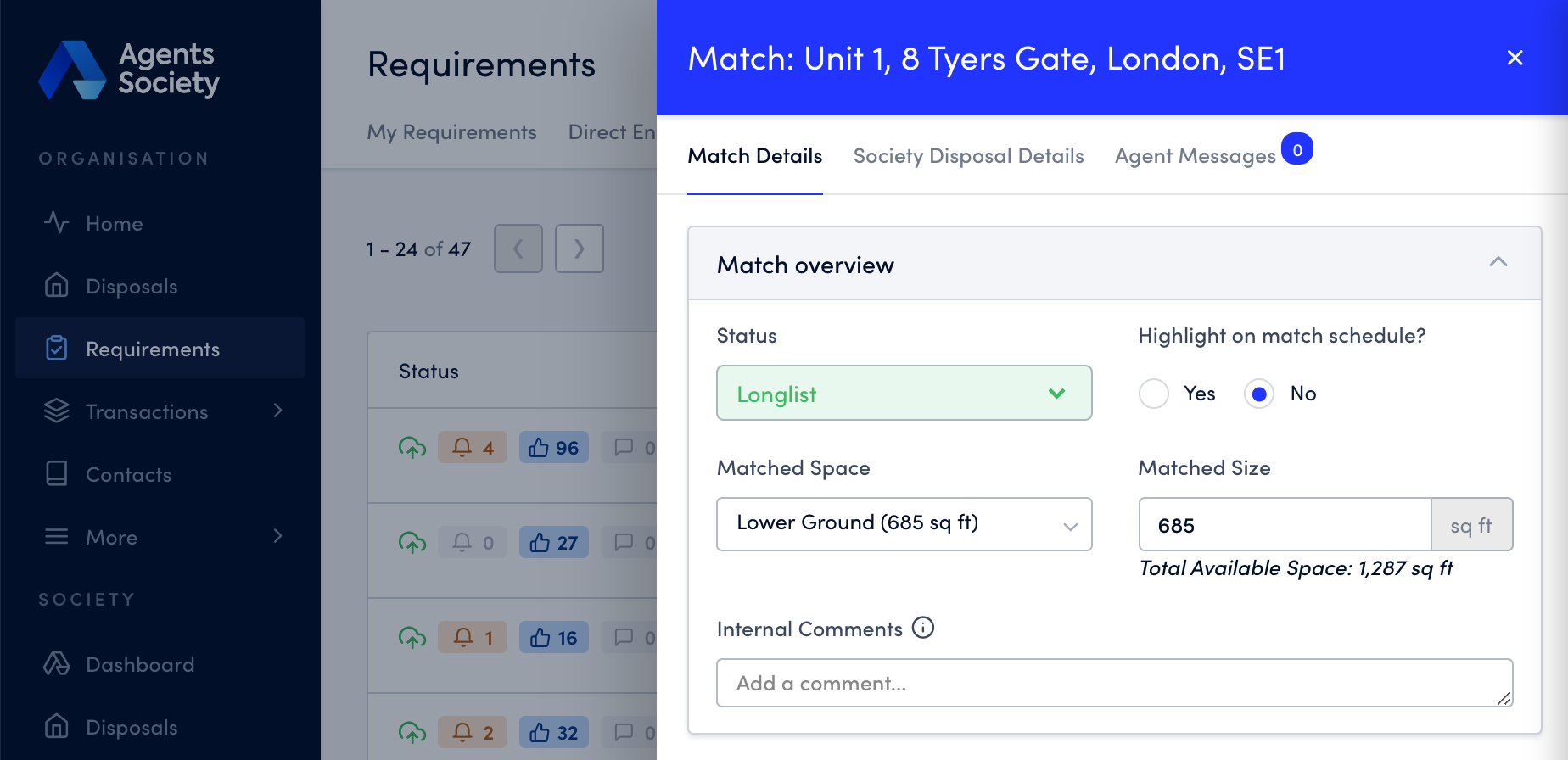 Manage your Acquisition match reports