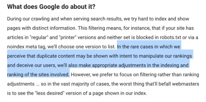 google on content syndication