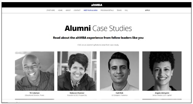 Attractiveness Bias - altmba spotlight alumni