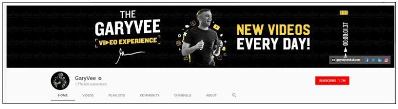 Gary Vaynerchuk brand profile YouTube