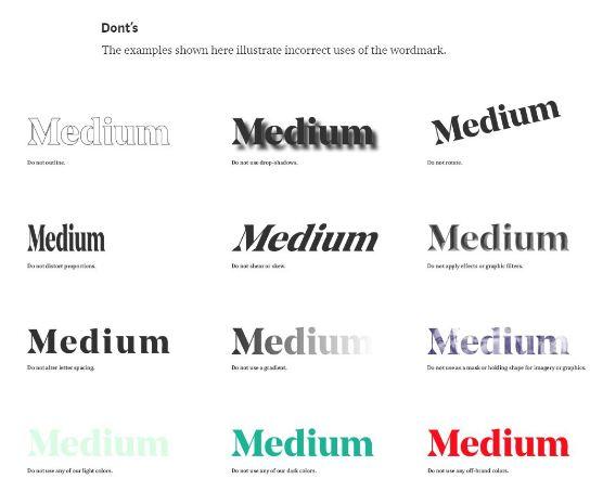 medium brand profile style donts