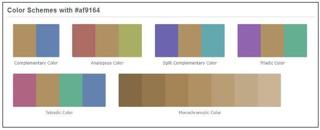 color scheme for branding profile sample