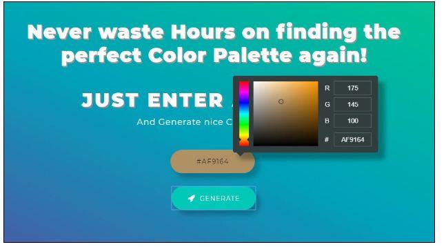 color scheme for branding profile shades