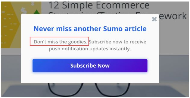 sumo signup brand voice incorporate
