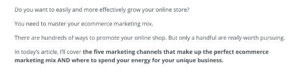 ecommerce marketing mix post brand voice