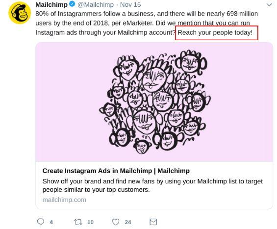 mailchimp tweet brand voice