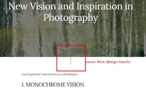 Eric Kim blog consistency in design black and white