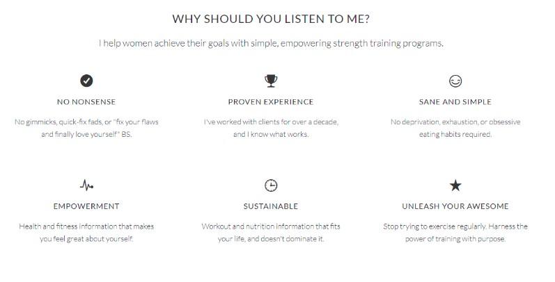 nia shanks website design