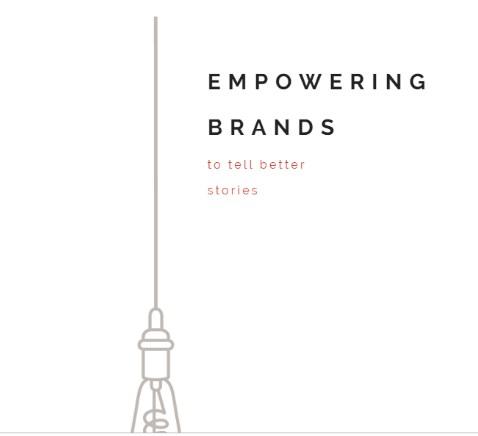 story fuel minimalist website design