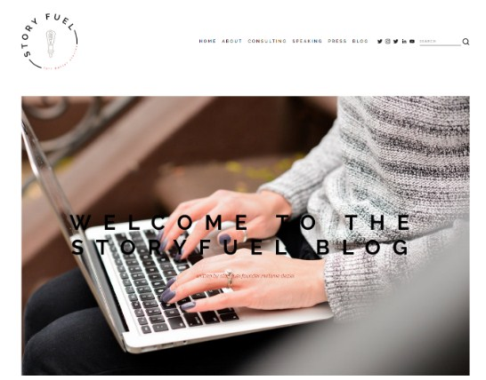 story fuel website design
