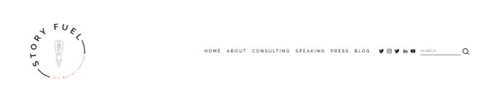 story fuel logo and website design