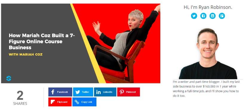 ryan robinson website designa nd pop ups