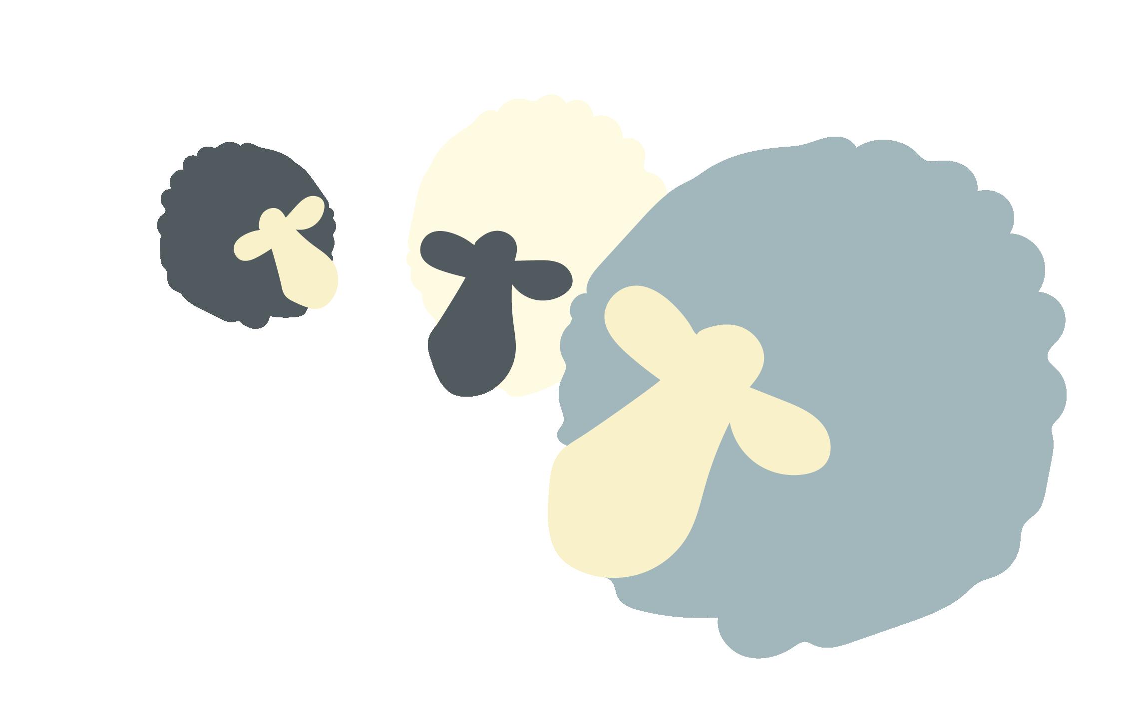 Curragh Sheep Graphic