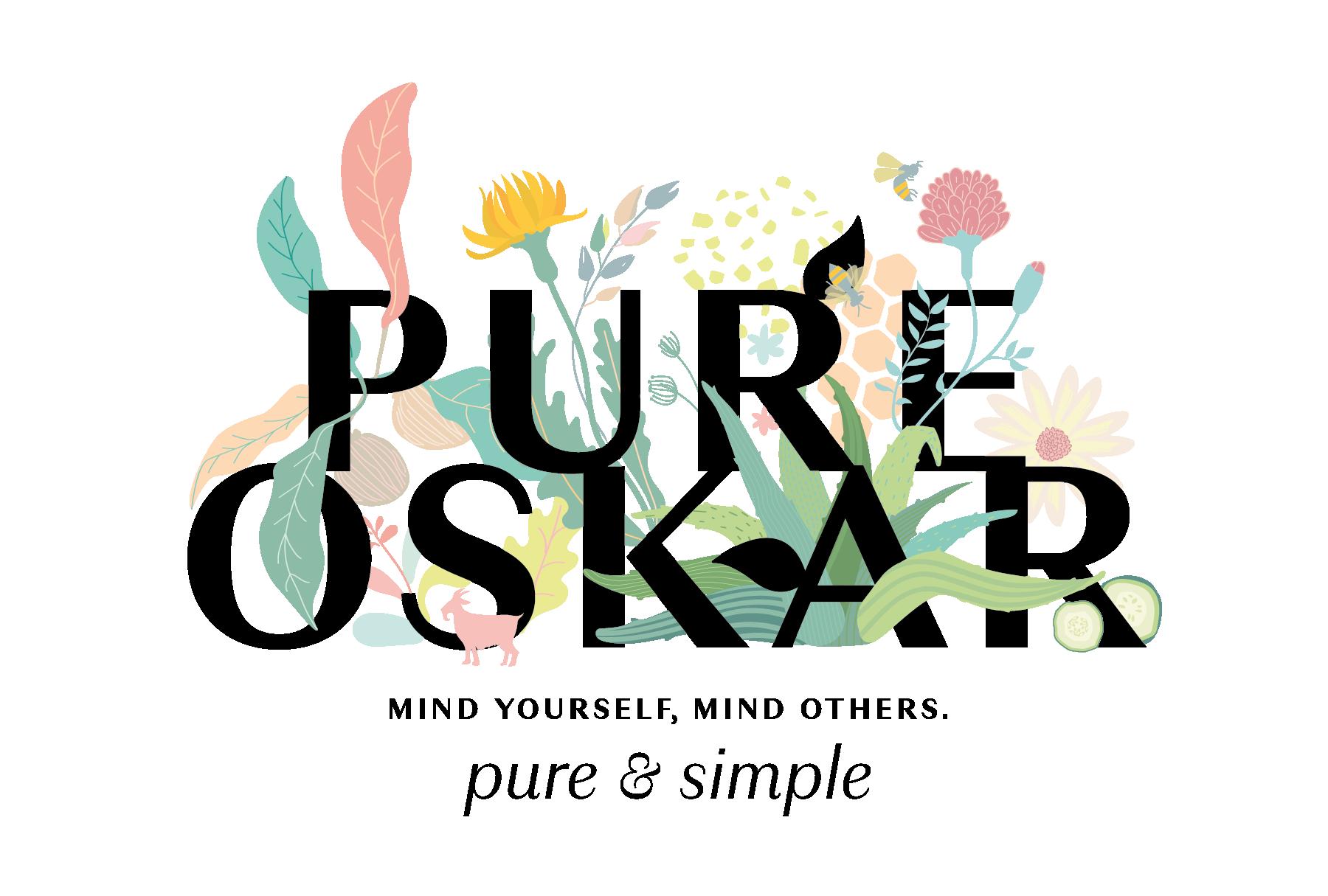 Pure Oskar Floral Logo