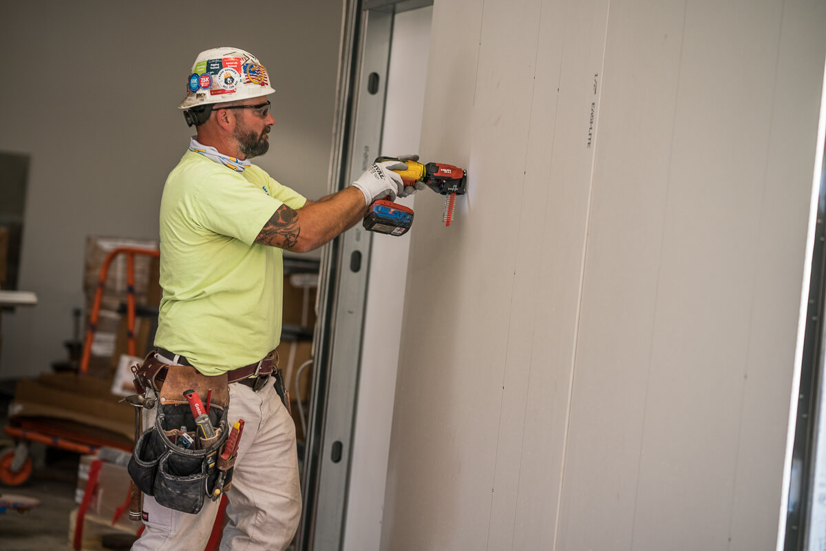Framing & Drywall As industry leaders in drywall services, TJ Wies is a full-service commercial metal framing and drywall contractor. Our crews are highly skilled and knowledgeable, and they are led by our experienced foremen.