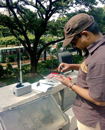 Installing and deploying Clarity Node-S to measure air quality in Bengaluru