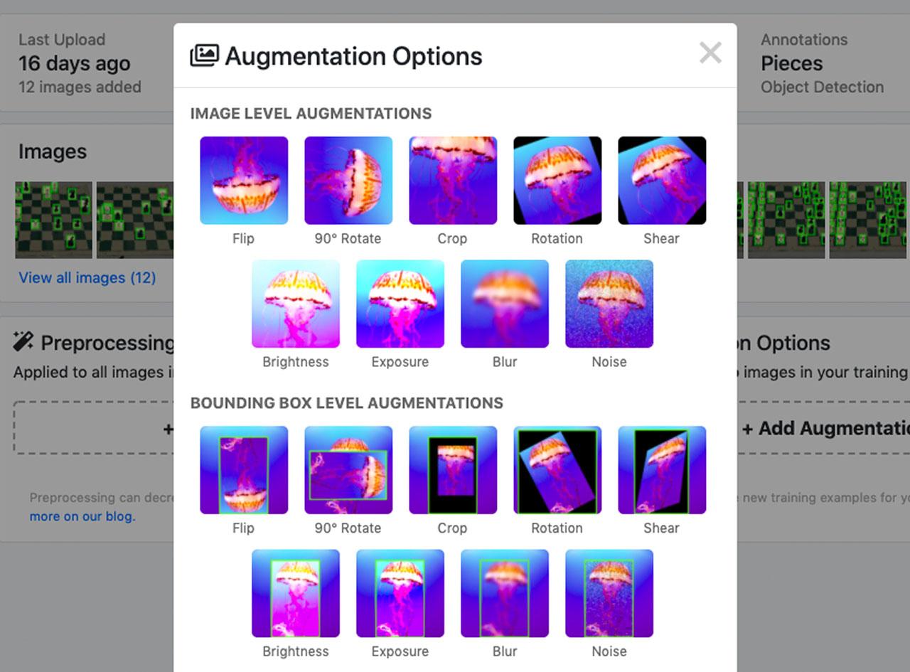 Roboflow Image Augmentation Options