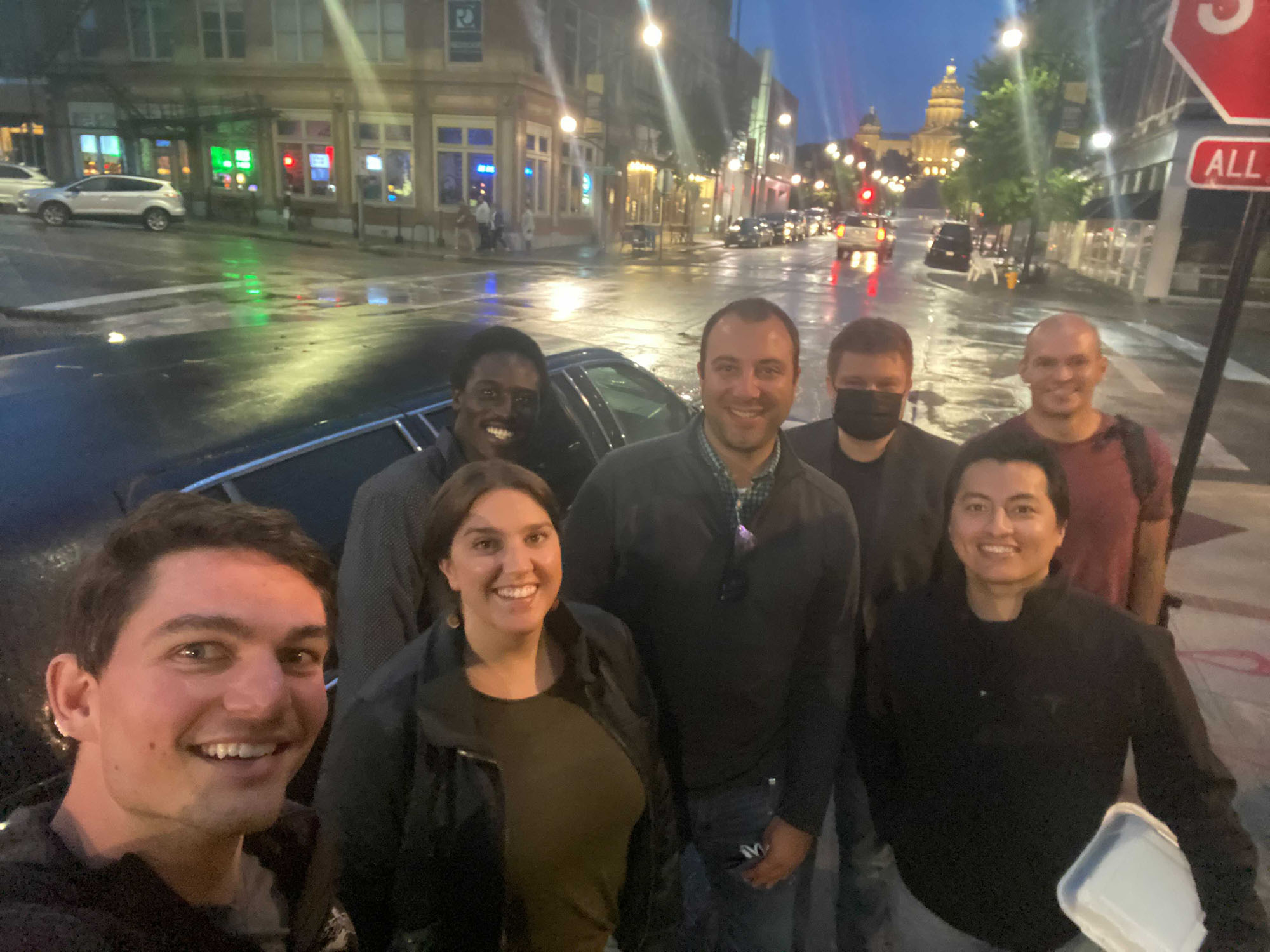 A night out on the town during a recent on-site in Des Moines, IA.