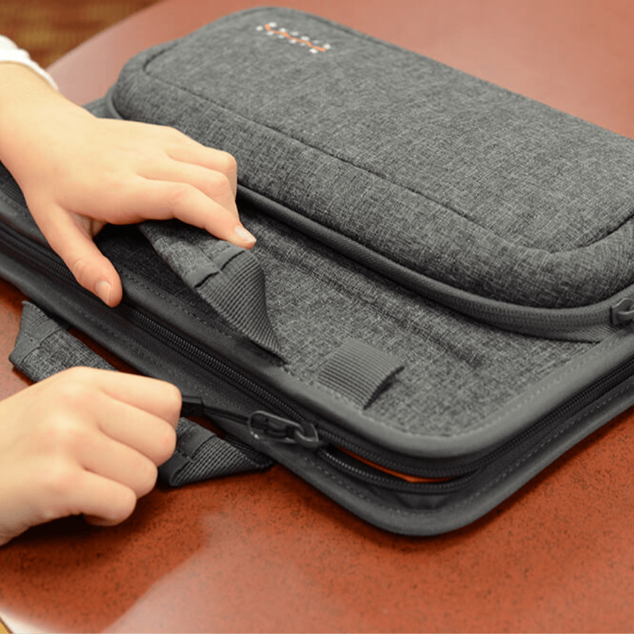 black higher ground backpack on a child
