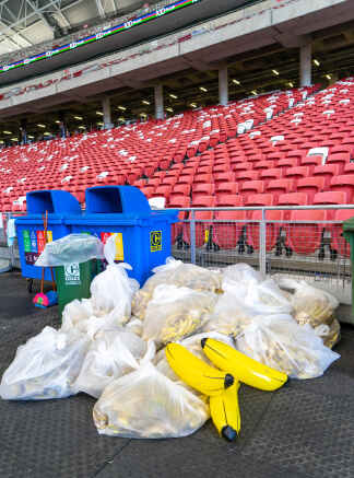 Bags of banana peels from Straits Time Run.