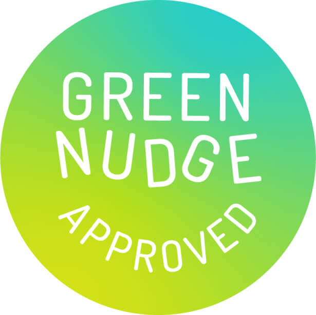 Graphic with Green Nudge logo.