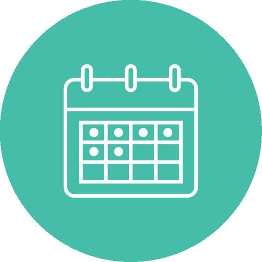Icon of a calendar.