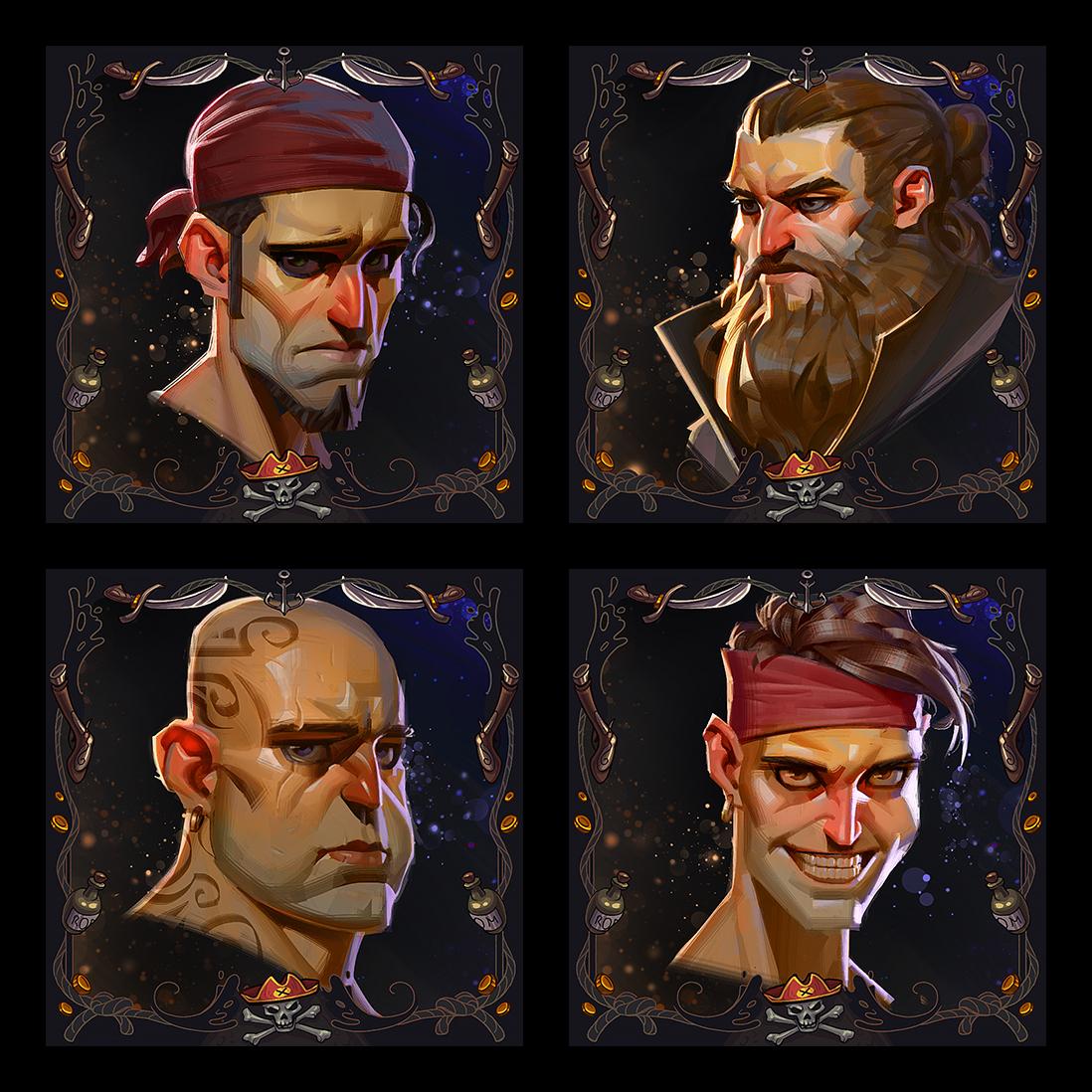 2D Tabletop Game Art Portraits by RocketBrush Studio