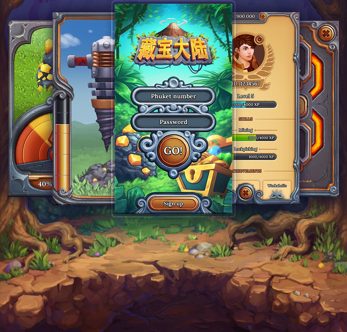 Mobile Game Art and UI Design - RocketBrush Studio