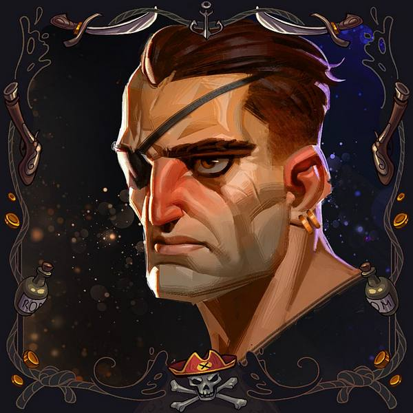 Stylized Character Portraits • Tabletop Game All Hands Ahoy!