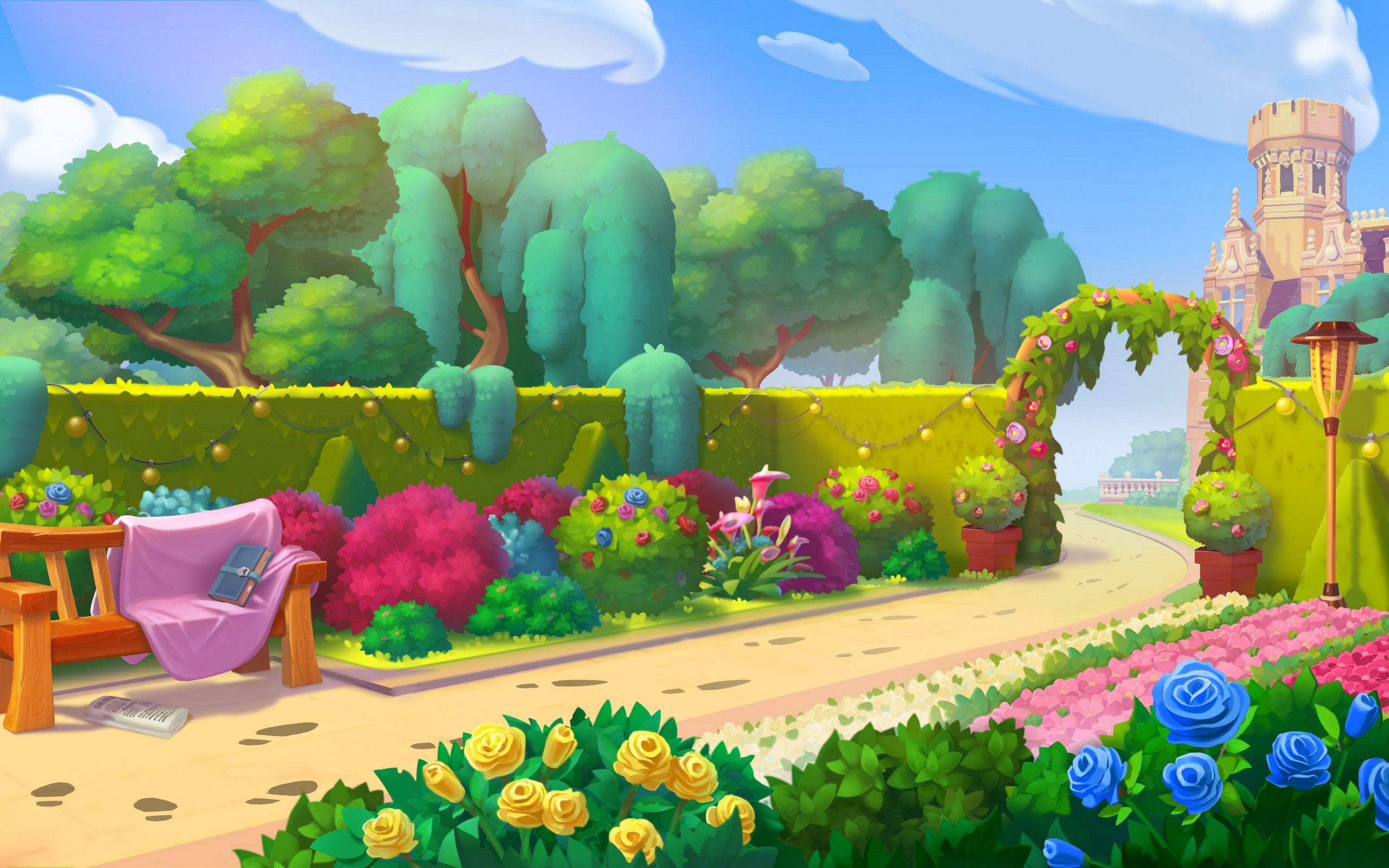 2D Video Game Backgrounds & Loading Screens