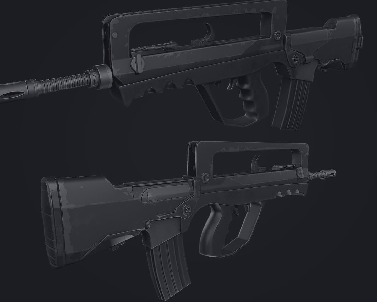 3D Gun Models • Low-Poly