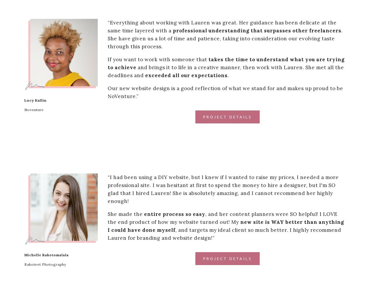 Testimonials Website