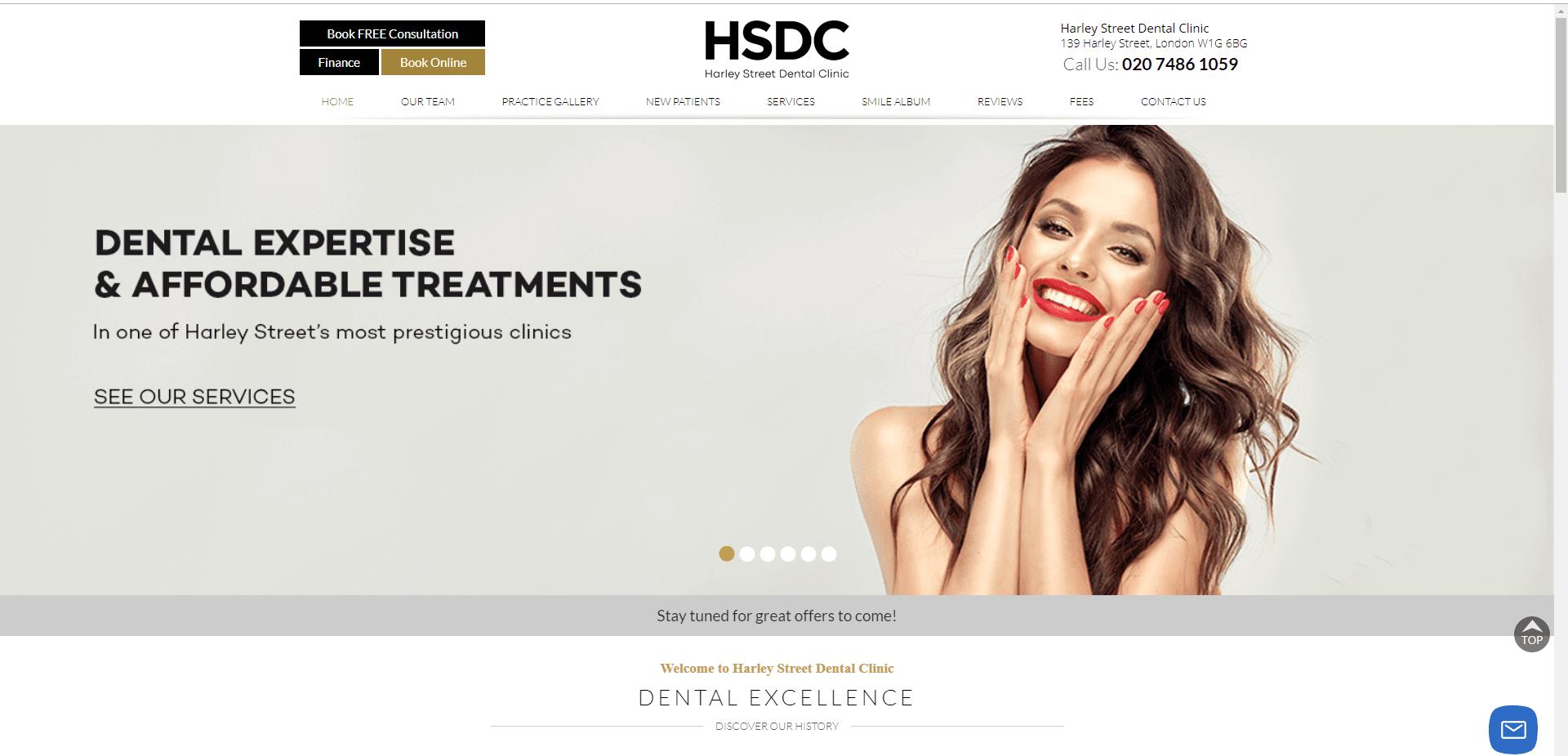 high converting dental website
