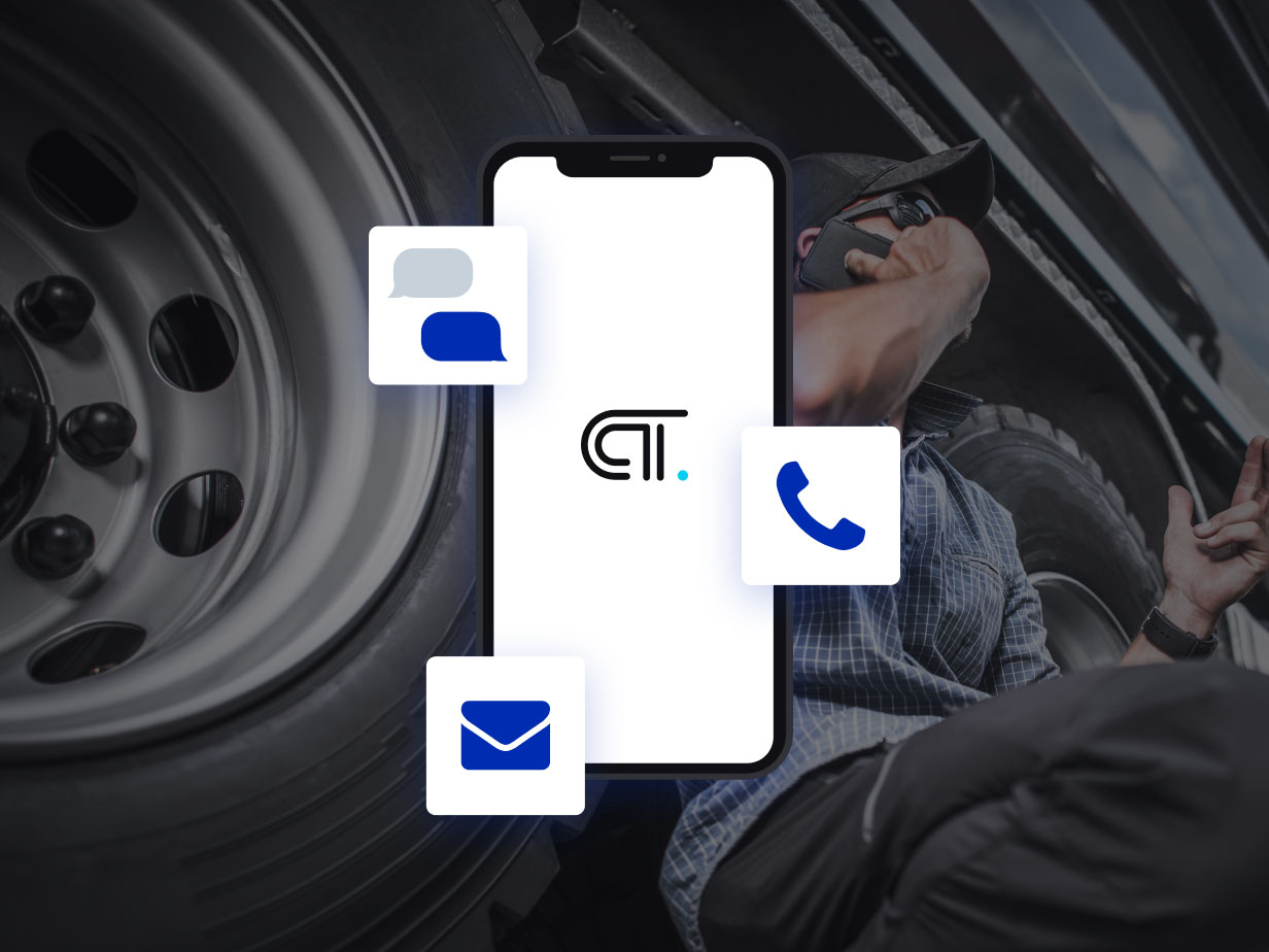 A driver getting support over the phone