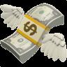 flying money emoji